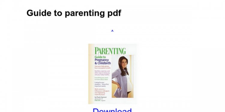 Guide to parenting pdf