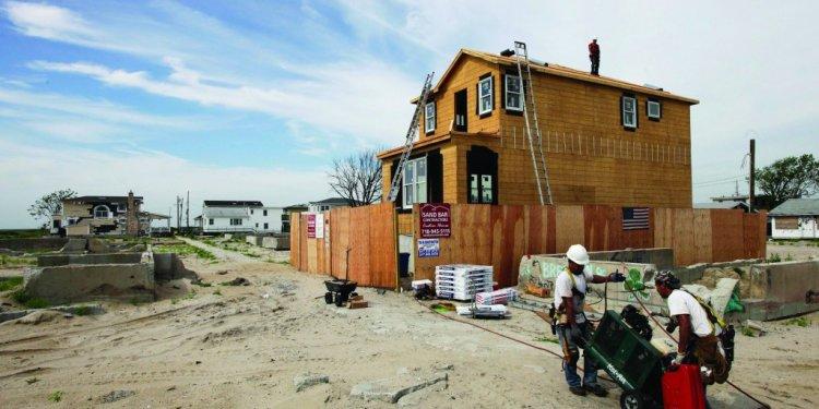 A house construction site