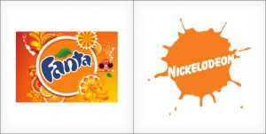 Fanta logo, Nickelodeon logo design, ornage logos