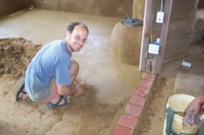 Installing Earthen Floor
