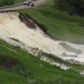 Pearl Creek floods Highway 22 during embankment failure